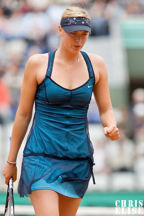 31 May 2007: Maria Sharapova of Russia is seen during the Women's Singles 2nd round match on day five of the French Open at Roland Garros in Paris, France