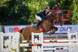 SCHLÜSSELBURG Sven (GER), Chetaro R<br /> Münster - Turnier der Sieger 2019<br /> Preis des EINRICHTUNGSHAUS OSTERMANN, WITTEN<br /> CSI4* - Int. Jumping competition  (1.45 m) - <br /> 1. Qualifikation Mittlere Tour<br /> Medium Tour<br /> 02. August 2019<br /> © www.sportfotos-lafrentz.de/Stefan Lafrentz