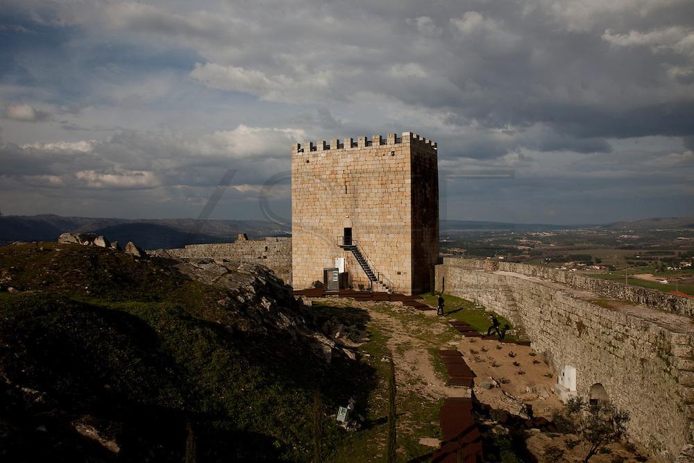 Celorico da Beira Castle, in Guarda, Portugal.