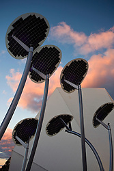 Solar panels designed to look like mallee trees, Adelaide Festival Center, Adelaide, South Australia, Australia