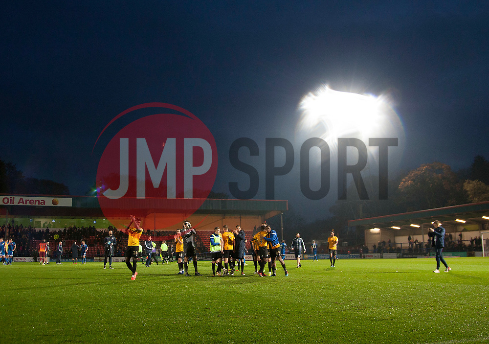 General view as Bristol Rovers applaud their fans - Mandatory by-line: Jack Phillips/JMP - 02/11/2019 - FOOTBALL - Crown Oil Arena - Rochdale, England - Rochdale v Bristol Rovers - English Football League One