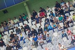 Fans during football match between FC Luka Koper and NK Maribor in 12th Round of Prva liga Telekom Slovenije 2013/14 on September 28, 2013 in Stadium Bonifika, Koper, Slovenia. (Photo by Vid Ponikvar / Sportida.com)