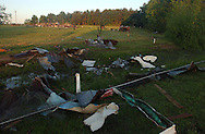 Fort Payne, Alabama.- An obliterated farm on the outskirts of Fort Payne in the northeast corner of Alabama, where tornados cut a destructive swath. (PHOTO: MIGUEL JUAREZ LUGO).