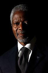 BRUSSELS, BELGIUM - JAN-29-2004 - Kofi Annan , Secretary General of the United Nations .   .(PHOTO © JOCK FISTICK)<br />