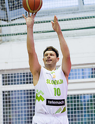 Miha Zupan of Slovenia during friendly basketball match between National teams of Slovenia and Ukraine at day 3 of Adecco Cup 2014, on July 26, 2014 in Rogaska Slatina, Slovenia. Photo by Vid Ponikvar / Sportida.com