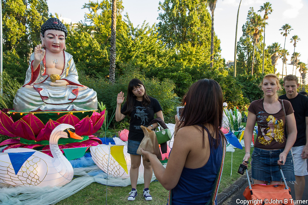 photographs of Lantern Festival, Albert Park, Auckland, New Zealand