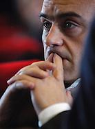 """Roma,14/01/2005: Luca Zingaretti, incontro alla Casa del Cinema in occasione dell'uscita del film """"Alla luce del sole""""."""