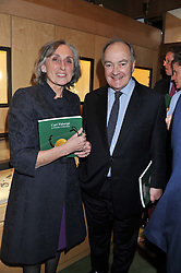 LADY ARMSTRONG OF ILMINSTER and LORD PALUMBO at a private view of  'A Diamond Jubilee Tribute - Faberge From A Private Collection' in aid of the charity Samaritans, held at Wartski, 14 Grafton Street, London on 14th May 2012.