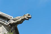 Wasserspeier Stiftskirche St. Waltrudis, Mons, Hennegau, Wallonie, Belgien, Europa | water spout, abbey church Saint Waltrude, Mons, Hennegau, Wallonie, Belgium, Europe