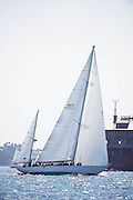 Black Watch sailing in the Museum of Yachting Classic Yacht Regatta, day one.