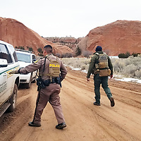 The Navajo Police coordinated search efforts with area law enforcement. San Juan County Sheriff's Offic deployed a search and rescue helicopter  and officers continued to track the suspects to the community of Navajo, N.M., where  Jeremiah Cleveland and two female companions were arrested late Wednesday night.