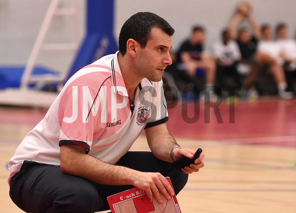 Andreas Kapoulas head coach of Bristol Flyers  - Photo mandatory by-line: Joe Meredith/JMP - Mobile: 07966 386802 - 10/10/2015 - BASKETBALL - SGS Wise Arena - Bristol, England - Bristol Flyers v Newcastle Eagles - British Basketball League
