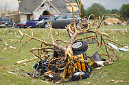 June 06, 2010: An ATV is wrapped up in a tree after a Tornado reaps destruction in Milbury and Ottawa County, Ohio.