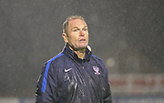 Russ Wilcox during the Sky Bet League 2 match between York City and Yeovil Town at Bootham Crescent, York, England on 18 August 2015. Photo by Simon Davies.