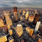 Aerial view of World Trade Center Construction Zone on November 10th 2011.