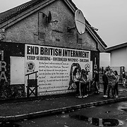 "Teens of the mostly Catholic Creggan neighborhood of Londonderry congregate on a Sunday afternoon. Many of the children have expressed their distrust for the PSNI (Police Service Northern Ireland) where studies found ""Between 2010 and 2018, stop and search powers have been used approximately 30,000 times against children – under 18's""  Northern Ireland, September 2019."