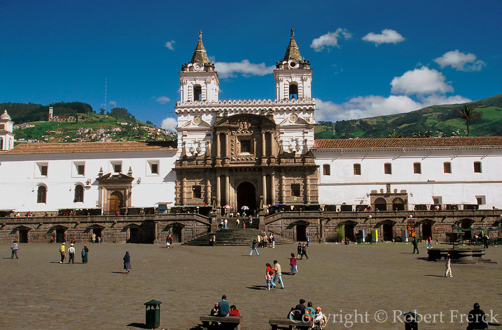 ECUADOR, COLONIAL QUITO Monastery of San Francisco 1534