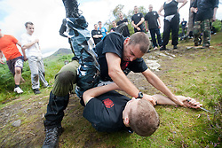The Institute of Krav Maga Scotland ran a day long seminar on Sunday 14th August, training in water, on the beach and in wooded areas, on Inchcailoch Island, the largest island of the Loch Lomond National Nature Reserve, near Balmaha. As Scotland's largest Krav Maga Organisation, the Institute of Krav Maga Scotland has classes in Glasgow, Edinburgh, Stirling and all across Scotland, providing first class training in Krav Maga both in classes or Private Tuition.