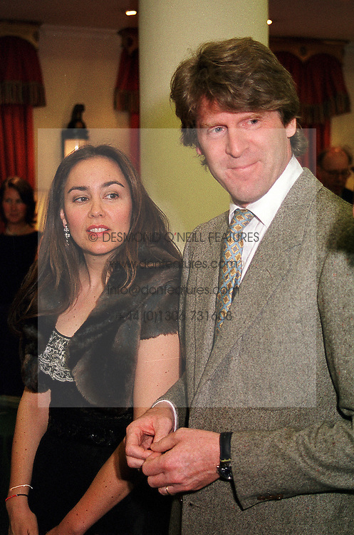 MR & MRS MARK GETTY members of the multi millionaire Getty<br />  family, at an exhibition in London on 2nd May 2000.ODF 37