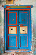 The Muslim quarter of Nagore town, just north of Nagapattinam has many fine old well preserved homes with fine doors and windows.