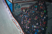 Poland, Wisla Malinka - 2017 November 18: Supporters during FIS Ski Jumping World Cup Wisla 2017/2018 - Day 1 at jumping hill of Adam Malysz on November 18, 2017 in Wisla Malinka, Poland.<br /> <br /> Mandatory credit:<br /> Photo by &copy; Adam Nurkiewicz<br /> <br /> Adam Nurkiewicz declares that he has no rights to the image of people at the photographs of his authorship.<br /> <br /> Picture also available in RAW (NEF) or TIFF format on special request.<br /> <br /> Any editorial, commercial or promotional use requires written permission from the author of image.