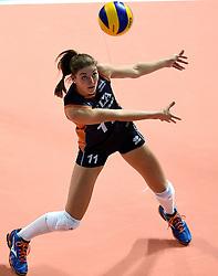 27-09-2015 NED: Volleyball European Championship Nederland - Polen, Apeldoorn<br /> Nederland verslaat Polen met 3-1 / Anne Buijs #11