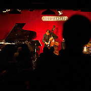 November 3, 2012 - New York, NY : The Steve Kuhn Trio, comprised of, from left, Steve Kuhn (piano), Buster Williams (bass), and Billy Drummond (drums) perform at the Jazz Standard on Saturday night.  CREDIT: Karsten Moran for The New York Times