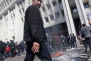 Government buildings in Bishkek, Kyrgyzstan were looted following the violent ouster of former President Kurmanbek Bakiyev. The White House, the president's offices, were looted and heavily damaged by fire. April 8, 2010.
