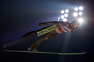 Poland, Wisla Malinka - 2017 November 18: Kamil Stoch from Poland soars through the air during FIS Ski Jumping World Cup Wisla 2017/2018 - Day 2 at jumping hill of Adam Malysz on November 18, 2017 in Wisla Malinka, Poland.<br /> <br /> Mandatory credit:<br /> Photo by © Adam Nurkiewicz<br /> <br /> Adam Nurkiewicz declares that he has no rights to the image of people at the photographs of his authorship.<br /> <br /> Picture also available in RAW (NEF) or TIFF format on special request.<br /> <br /> Any editorial, commercial or promotional use requires written permission from the author of image.