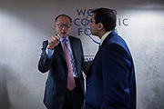 Former President of the World Bank, Jim Yong Kim, at the World Economic Forum in Davos.