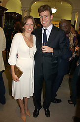 PADDY & LUCINDA BYNG at a party to celebrate the 10th anniversary of the Smythson Fashion Diary and to the launch of the 2007 Limited Edition held at Smythson, New Bond Street, London on 25th October 2006.<br />