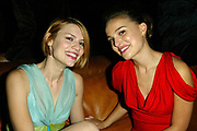 NEW YORK - OCTOBER 15:   (TABLOIDS OUT) Actress Claire Danes and actress Natalie Portman share a laugh at the VH1/Vogue Fashion Awards 2002 Afterparty at Hudson Hotel Cafeteria October 15, 2002 in New York City, New York.  (Photo by Matthew Peyton)