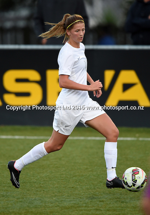 Katie Bowen. Womens Football. New Zealand Football Ferns v Australia Westfield Matildas. Auckland, New Zealand. Thursday 12 February 2015. Copyright Photo: Andrew Cornaga / www. Photosport.co.nz