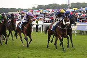 GALLOWAY HILLS (5) ridden by Sean Davis and trained by former jockey Philip Makin winning The Plasmor Concrete Products Diamond Anniversary Handicap Stakes over 6f (£15,000)  during the MacMillan Charity Raceday held at York Racecourse, York, United Kingdom on 15 June 2019.