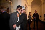 AIGAR LIIVAMAE; LEO BELICHO; , Isabella Blow  by Martina Rink.  Haunch of Venison. London. 13 September 2010., DO NOT ARCHIVE-© Copyright Photograph by Dafydd Jones. 248 Clapham Rd. London SW9 0PZ. Tel 0207 820 0771. www.dafjones.com.