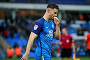 Peterborough United defender Andrew Hughes (3) walks off at half time during the EFL Sky Bet League 1 match between Peterborough United and Southend United at London Road, Peterborough, England on 3 February 2018. Picture by Nigel Cole.