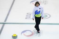Eva Sever, head coach of Slovenia during European Curling Championship C-division between national team of Slovenia and Lithuania on April 29, 2016 in Ledena dvorana Zalog, Ljubljana, Slovenia. Photo By Urban Urbanc / Sportida