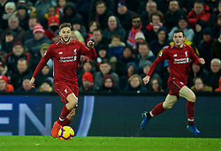 LIVERPOOL, ENGLAND - Wednesday, January 30, 2019: Liverpool's substitute Adam Lallana during the FA Premier League match between Liverpool FC and Leicester City FC at Anfield. (Pic by David Rawcliffe/Propaganda)