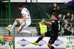 Aleksander Rajčević of Maribor and Amadej Maroša of Mura during football match between NŠ Mura and NK Maribor in semifinal Round of Pokal Telekom Slovenije 2018/19, on April 24, 2019 in Fazanerija, Murska Sobota, Slovenia. Photo by Blaž Weindorfer / Sportida