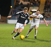 Dundee&rsquo;s Greg Stewart goes past Dumbarton&rsquo;s Jon Routledge - Dundee v Dumbarton, William Hill Scottish Cup Fifth Round at Dens Park<br /> <br />  - &copy; David Young - www.davidyoungphoto.co.uk - email: davidyoungphoto@gmail.com