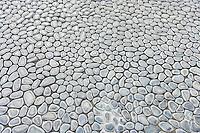 Full frame shot of cobblestones at Manila American Cemetery and Memorial; Manila; Philippines