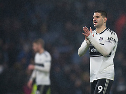 Aleksandar Mitrovic of Fulham applauds the fans at the final whistle - Mandatory by-line: Jack Phillips/JMP - 12/01/2019 - FOOTBALL - Turf Moor - Burnley, England - Burnley v Fulham - English Premier League
