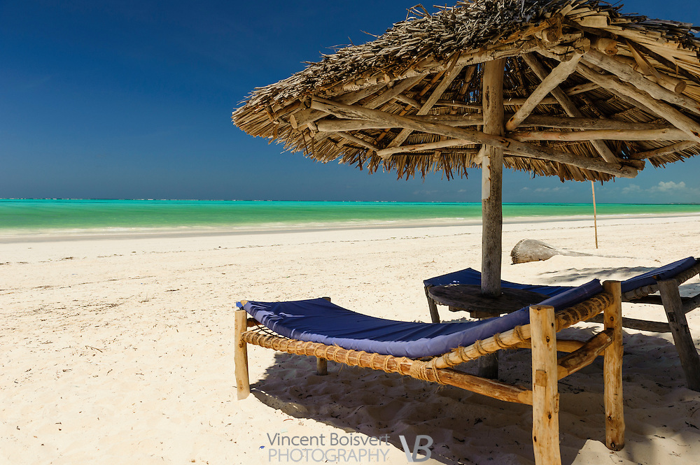 an inviting tropical beach near Paje, Zanzibar, Tanzania
