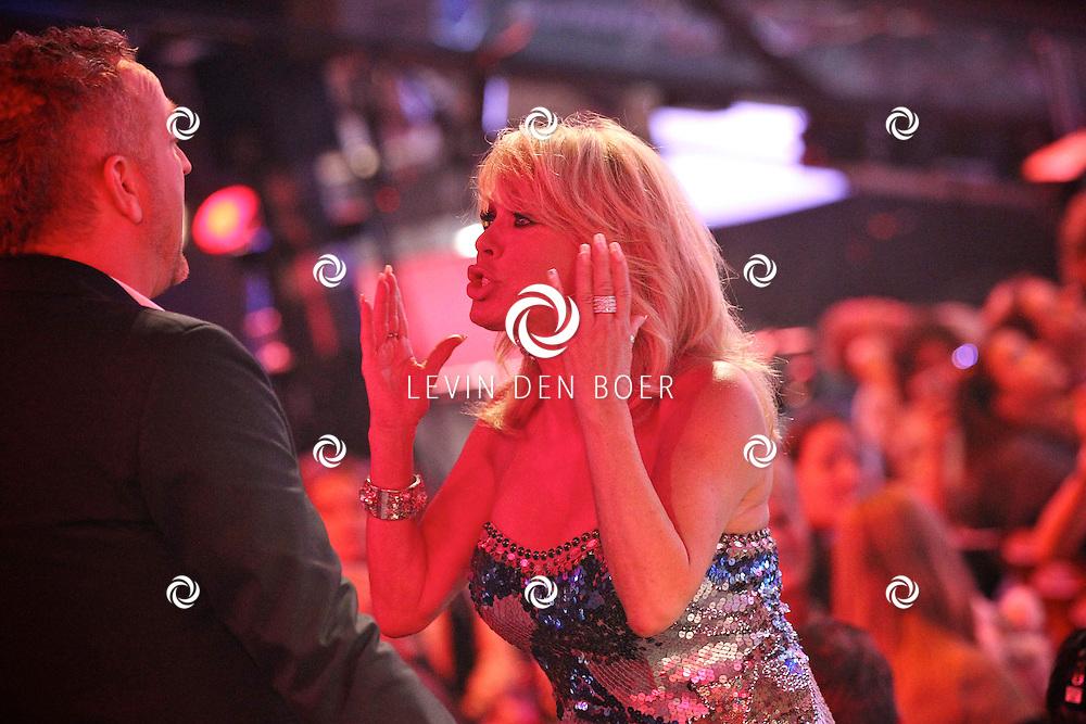 HILVERSUM - In Studio 24 is de vierde halve finale van Hollands Got Talent geweest.  Met op de foto juryleden Gordon Heuckeroth en Patricia Paay. FOTO LEVIN DEN BOER - PERSFOTO.NU