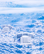 Landline phones in clouds