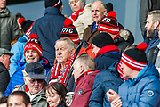 Fleetwood Town fans during the EFL Sky Bet League 1 match between Fleetwood Town and Blackburn Rovers at the Highbury Stadium, Fleetwood, England on 20 January 2018. Photo by Michal Karpiczenko.
