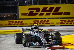 September 16, 2018 - Singapore, Singapore - Motorsports: FIA Formula One World Championship 2018, Grand Prix of Singapore, .#77 Valtteri Bottas (FIN, Mercedes AMG Petronas Motorsport) (Credit Image: © Hoch Zwei via ZUMA Wire)