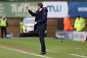Shrewsbury Town's Manager Sam Ricketts during the The FA Cup fourth round match between Shrewsbury Town and Wolverhampton Wanderers at Greenhous Meadow, Shrewsbury, England on 26 January 2019.