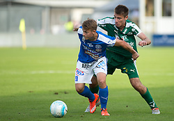 29.07.2016, Gernot Langes Stadion, Wattens, AUT, 2. FBL, WSG Wattens vs Floridsdorfer AC, 2. Runde, im Bild v.l.n.r.: Stefan Krickl (Floridsdorfer AC) und Kekez Drazen (WSG Wattens) // during second Austrian Bundesliga 2nd round match between WSG Wattens and Floridsdorfer AC, at the Gernot Langes Stadion in Wattens, Austria on 2016/07/29. EXPA Pictures © 2016, PhotoCredit: EXPA/ Jakob Gruber