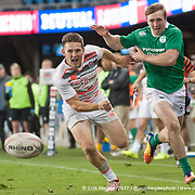 Will Edwards of England against Ireland at the Silicon Valley Sevens in San Jose, California. November 4, 2017. <br /> <br /> By Jack Megaw.<br /> <br /> <br /> <br /> www.jackmegaw.com<br /> <br /> jack@jackmegaw.com<br /> @jackmegawphoto<br /> [US] +1 610.764.3094<br /> [UK] +44 07481 764811